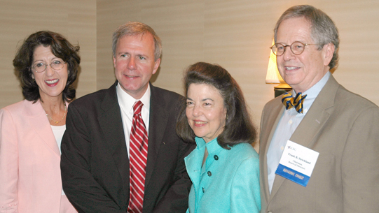 Left to Right: Tennessee Bar Association President Marcia Eason, Nashville Mayor Bill Purcell, LSC President Helaine M. Barnett, and LSC Board Chairman Frank B. Strickland