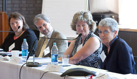 Pro Bono Task Force Members Colleen Cotter, John Whitfield, Nan Heald and Diana White.