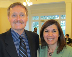 LSC's Glenn Rawdon with Betty Balli Torres, executive director of the Texas Access to Justice Foundation, the leading funder of legal aid in Texas. See more photos on the Foundation's Facebook page.