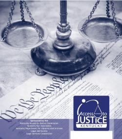 Cover of Access to Justice: Collaborating with Public Libraries booklet